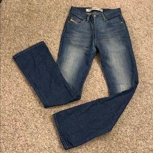 Diesel High Rise Rigid Bootcut Vintage Jeans Sz 26